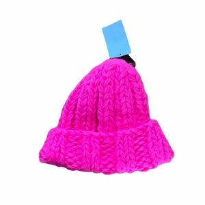 H&M hot pink winter hat NWT